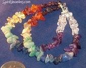 Chakra Balancing Double Strand Bracelet - Reiki Infused - garnet carnelian citrine amazonite sodalite amethyst quartz