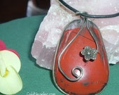 Passion & Energy - Red Jasper - Bare Essential Jewelery Line by Starlene - Reiki Infused - Centering and Grounding Energy - 1825