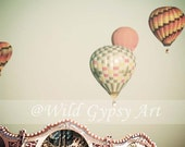 Fine Art Paris Travel Photography Print - Hot Air Balloon Carousel  - CIJ