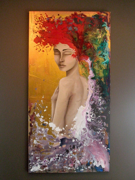 Poison Ivy II - original 24x48 painting RESERVED