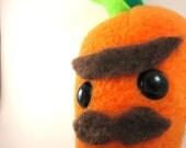 Monsieur Carrot Evil Mustache Plush Stuffed Toy