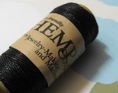 One New 100 foot spool of top quality, imported, 3-ply polished 0.5mm thick black  hemp cord