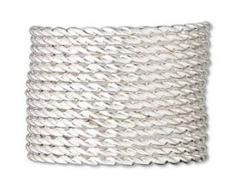 Sterling Silver Twisted Full Hard  20Guage Jewelry and Craft Wire 5 feet