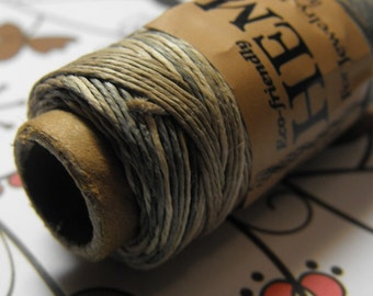 One New 100 foot spool of top quality, imported, 3-ply polished 0.5mm thick natural tan and brown mix  hemp cord