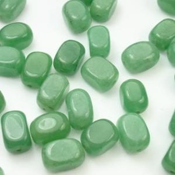 15 Inch Strand Green Aventurine Nugget  Style Beads