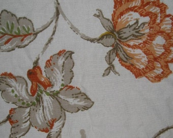 Vintage 70s Floral Fabric Remnant