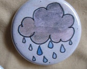 Rain Cloud pinback button