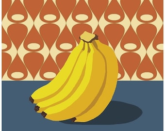 Fruit with Wallpaper (banana) iron-on transfer