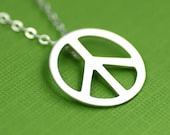 World Peace Necklace in Silver
