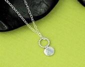 Silver Little Pebble Accent Necklace
