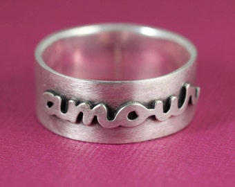 Amour Ring in Silver