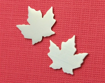 Silver Autumn Maple Leaf Earrings