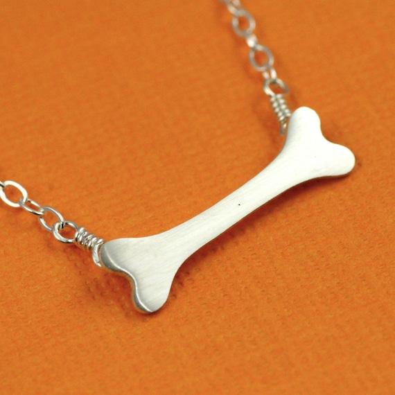 Bones Bones Bones Necklace in Silver