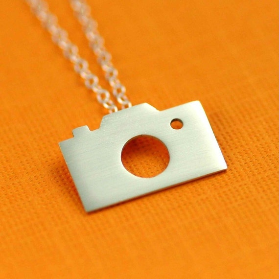 Camera Necklace. Photography Enthusiast. Gifts for Photographers. Modern Charm Jewelry. Kitsch Jewelry. Sterling Silver Jewelry.