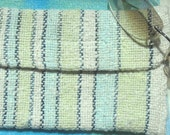 Hand dyed handwoven cotton glasses case