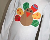 Thanksgiving Day Turkey Tshirt ---READY TO SHIP ---  Sample 4t