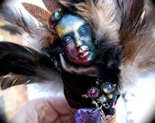 A Fork In The Road-Mixed Media Assemblage Anam Cara Spirit Art Doll