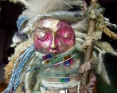 Mixed Media Assemblage Spirit Art Doll-'Like A Rolling Stone'