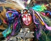 Tracks of My Tears-Mixed Media Assemblage Anam Cara Spirit Art Doll