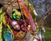 Mother And Daughter-Spirit Art Doll-Mixed Media Assemblage