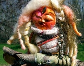Earth Mother Gaia-Spirit Art Doll Mixed Media Assemblage