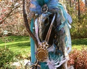OOAK Spirit Art Doll Mixed Media Assemblage: Time Passages