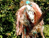 OOAK Art Doll Mixed Media Assemblage: A Horse With No Name