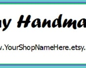 Promote Your Shop....Buy Handmade....Custom Stickers 4 Your Shop....Get Yours Today