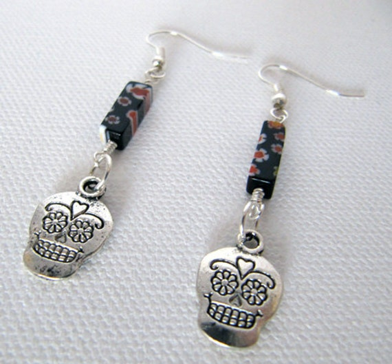 Dia de los Muertos, Day of the Dead Earrings