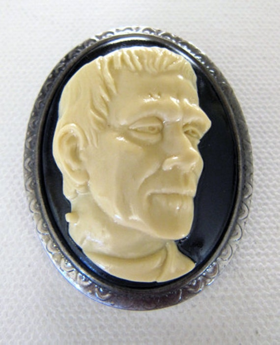 Frankenstein Cameo Brooch and Pendant