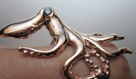 Rabidfox Rosy Octopus ring