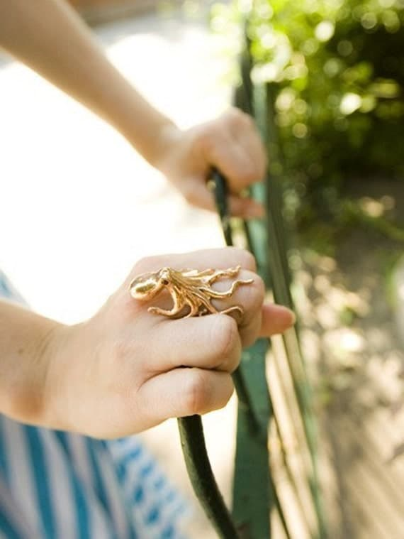 Octopus Ring in Gold