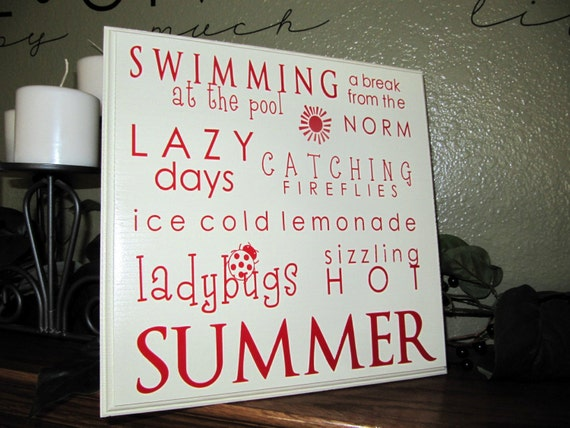 SIMPLY SUMMER custom wood plaque with vinyl lettering