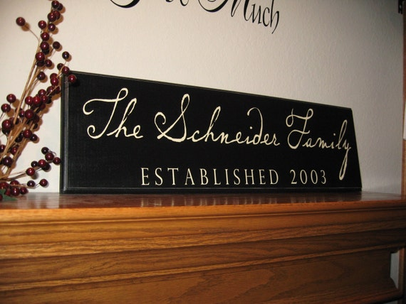 Custom Family Wood Plaque