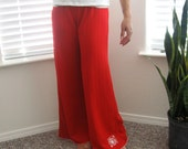 Sublime Lounge Pants in Red Fleur Small-Medium