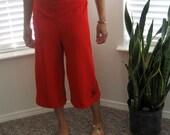 Sublime Lounge Pants- Capri- Red Fleur- Large