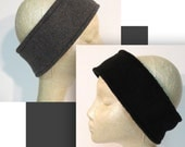 Custom Order- Thermal Ear Warmer  Set of 2- Black and Charcoal- Large/Mens