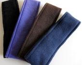 Custom Order- Thermal Ear Warmer  Set of 4- Black, Purple, Brown, Navy- Large/Mens