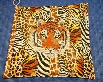 Tiger Embroidered Kitchen Pot Holder