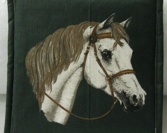 HORSE  Print  Fabric  Potholders
