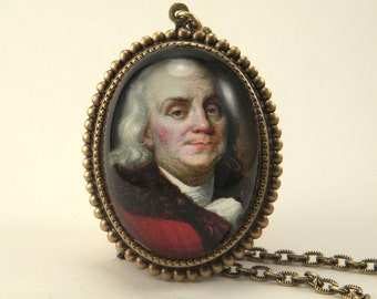Ben Franklin Deluxe Necklace Patriotic Neckware
