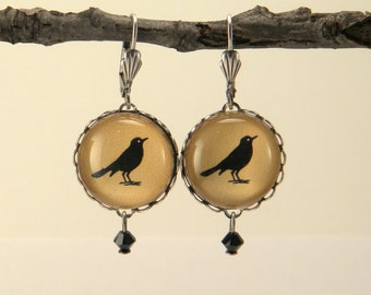 Gold Rockin' Robin Round Earrings