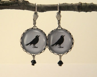 Gray Rockin' Robin Round Earrings