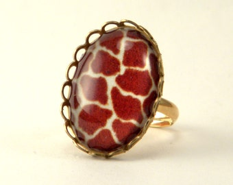 Brass Giraffe Petite Ring Out of Africa