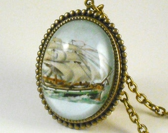 Smooth Sailing Clipper Ship Deluxe Necklace