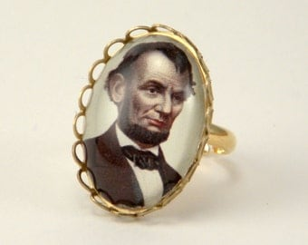 Little Lincoln our petite Abraham Lincoln Ring