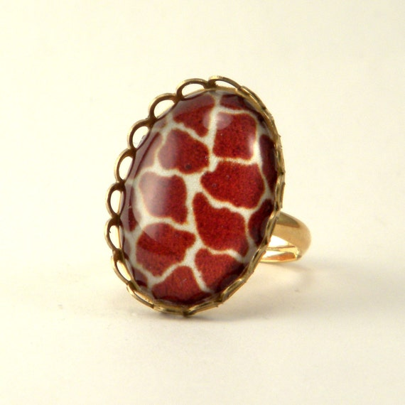 Brass Giraffe Petite Ring Out of Africa