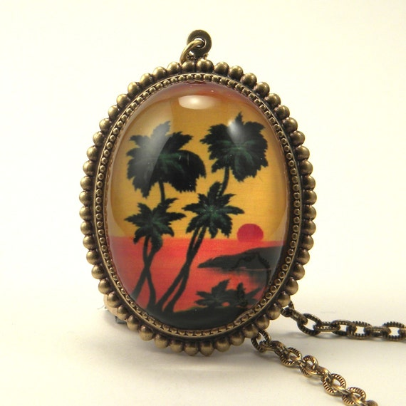 Tropical Sunset Deluxe Necklace Feel the Trade Winds Blow