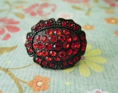 Ruby Red Sparkle Ring