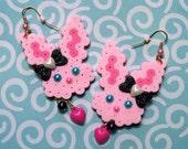 hunnie bunnie earrings